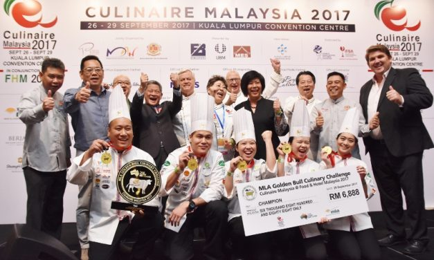 Celebrating the winners at Culinaire Malaysia 2017